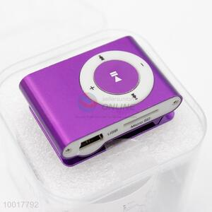 Promotional purple mini MP3 player