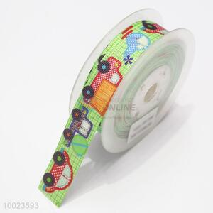 New Arrival Hot Sale High Quality 2.5CM Colorful Cars Pattern Print Ribbon