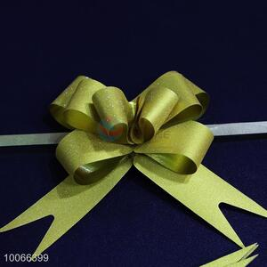 Yellow ribbon pull flower/pull bow for party/gift decoration