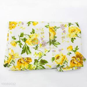 Kitchen Cooking Apron with Flowers Pattern for Promotion