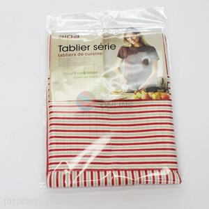 Red Stripe Classic Stripes Canvas Apron