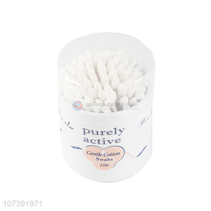 Bottom Price 100 Count Plastic Stick Double Tipped Cotton Swabs