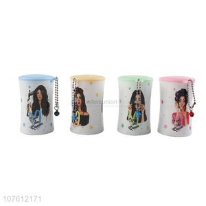 Wholesale Beauty Girl Pattern Canned Wet Wipes Hand Wipes