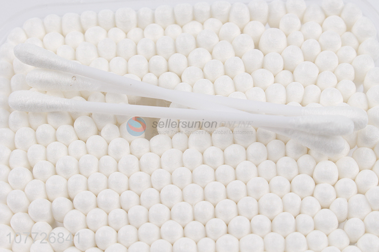 Good quality plastic double head cotton swabs daily beauty cotton swabs