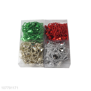 Wholesale cheap price colourful christmas beads with bell