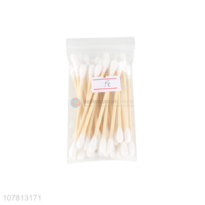 High quality personal care wooden stick pure cotton swabs