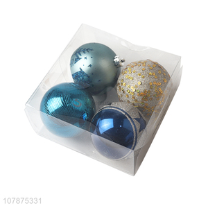 Delicate Design 4 Pieces Colorful Christmas Ball Set