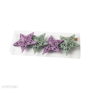 Hot Sale 4 Pieces Christmas Tree Decoration Stars Set