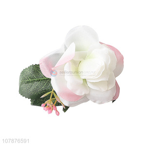 Good Quality Fashion Artificial Flower Hairpin Girls Hair Clip