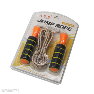 New product comfort grip skipping rope training jump rope