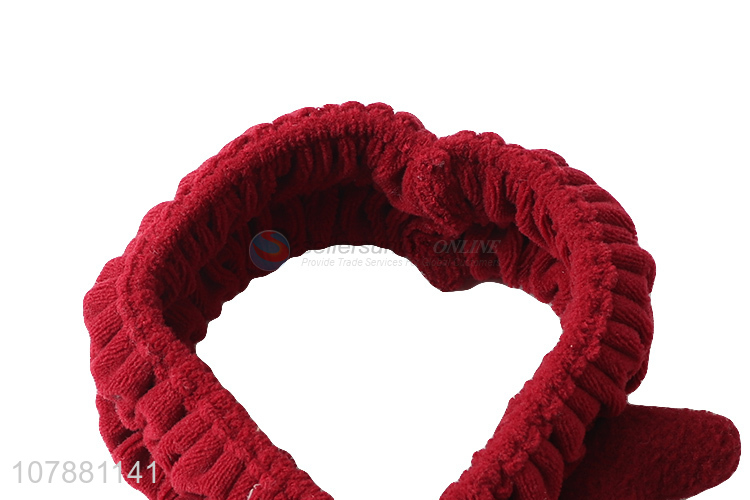Cheap price red soft makeup hairband with top quality