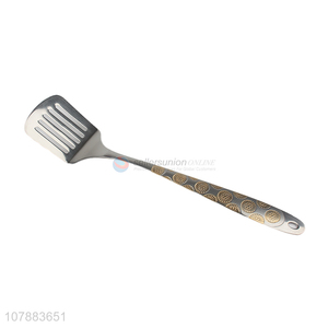 Top sale stainless steel slotted spatula for cooking tools