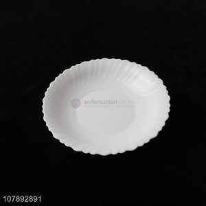 Good Quality Wavy Edge Glass Plate Round Food Dish