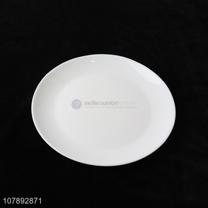 High Quality White Round Plate Glass Plate Food Dish
